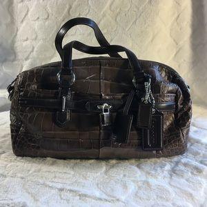 Vintage Coach Alligator Brown Leather Purse